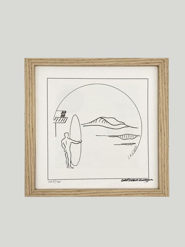 """TABLEAU SURF SHACK """"LA NORD. HOSSEGOR"""""""